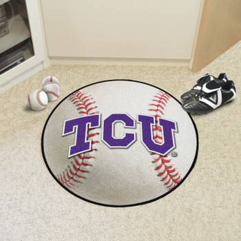 "27"" Texas Christian University Baseball Style Round Mat"
