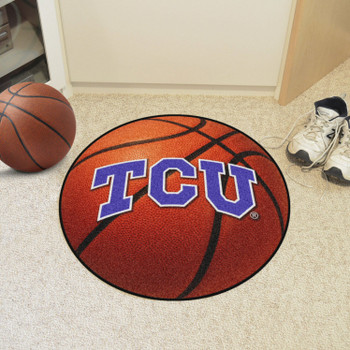 "27"" Texas Christian University Basketball Style Round Mat"