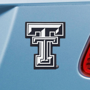 Texas Tech University Chrome Emblem, Set of 2