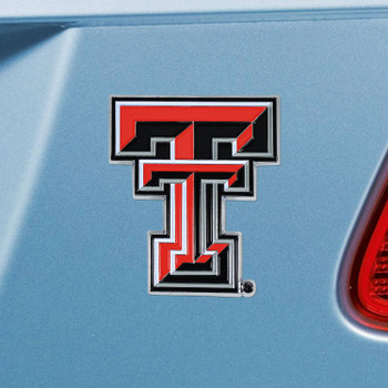 Texas Tech University Red Color Emblem, Set of 2