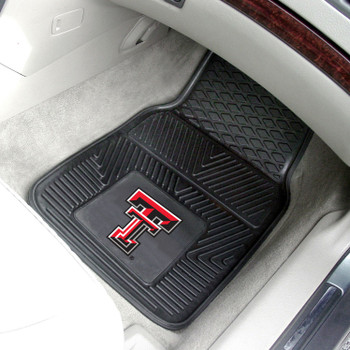 Texas Tech University Heavy Duty Vinyl Front Black Car Mat, Set of 2