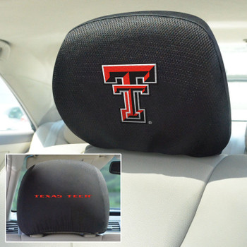 Texas Tech University Car Headrest Cover, Set of 2