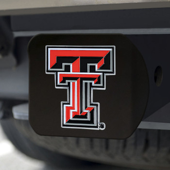 Texas Tech University Hitch Cover - Color on Black