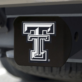 Texas Tech University Hitch Cover - Chrome on Black