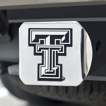 Texas Tech University Hitch Cover - Chrome on Chrome