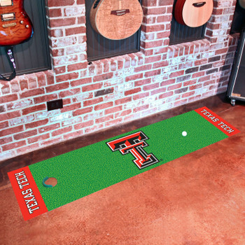 """18"""" x 72"""" Texas Tech University Putting Green Runner Mat"""
