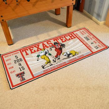 """30"""" x 72"""" Texas Tech University Ticket Rectangle Runner Mat"""
