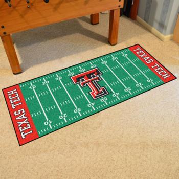 """30"""" x 72"""" Texas Tech University Football Field Rectangle Runner Mat"""