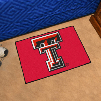 "19"" x 30"" Texas Tech University Red Rectangle Starter Mat"