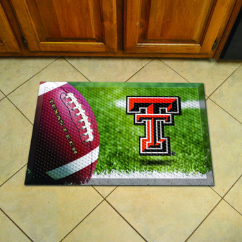 "19"" x 30"" Texas Tech University Rectangle Scraper Mat - ""TT"" Logo"