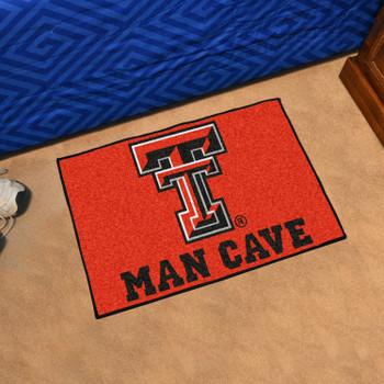 """19"""" x 30"""" Texas Tech University Man Cave Starter Red Rectangle Mat"""
