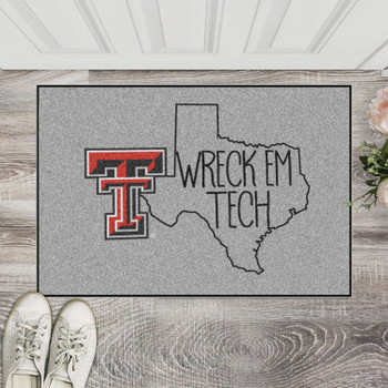 "19"" x 30"" Texas Tech University Southern Style Gray Rectangle Starter Mat"
