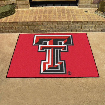 "33.75"" x 42.5"" Texas Tech University All Star Red Rectangle Mat"