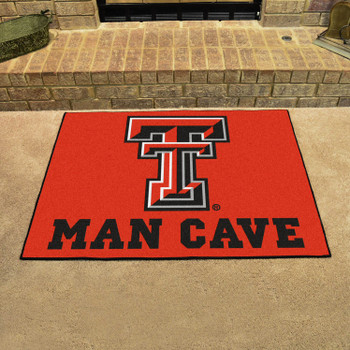 "33.75"" x 42.5"" Texas Tech University Man Cave All-Star Red Rectangle Mat"