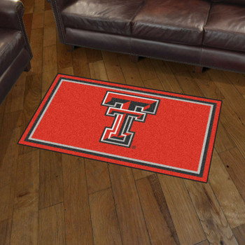 3' x 5' Texas Tech University Red Rectangle Rug