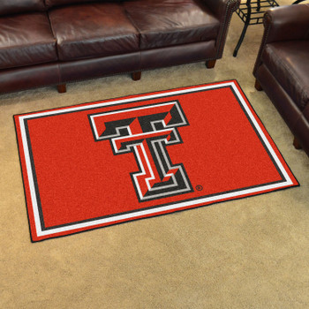 4' x 6' Texas Tech University Red Rectangle Rug