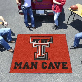 "59.5"" x 71"" Texas Tech University Man Cave Tailgater Red Rectangle Mat"