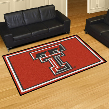 5' x 8' Texas Tech University Red Rectangle Rug