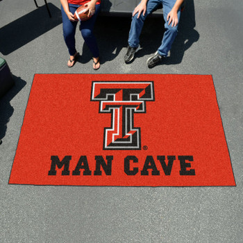 "59.5"" x 94.5"" Texas Tech University Man Cave Red Rectangle Ulti Mat"
