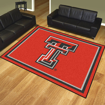 8' x 10' Texas Tech University Red Rectangle Rug