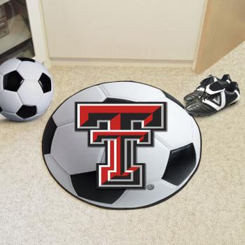 """27"""" Texas Tech University Soccer Ball Round Mat"""