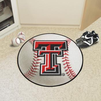 """27"""" Texas Tech University Baseball Style Round Mat"""