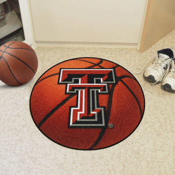 "27"" Texas Tech University Basketball Style Round Mat"
