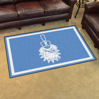 4' x 6' The Citadel Blue Rectangle Rug