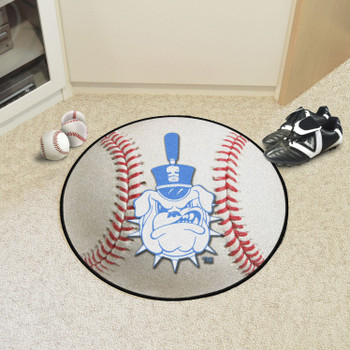 "27"" The Citadel Baseball Style Round Mat"