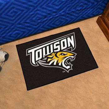 "19"" x 30"" Towson University Black Rectangle Starter Mat"