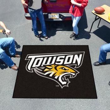 "59.5"" x 71"" Towson University Black Tailgater Mat"