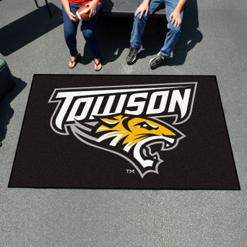 "59.5"" x 94.5"" Towson University Black Rectangle Ulti Mat"