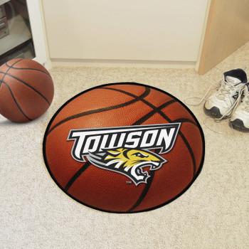 "27"" Towson University Orange Basketball Style Round Mat"