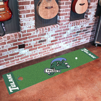 "18"" x 72"" Tulane University Putting Green Runner Mat"