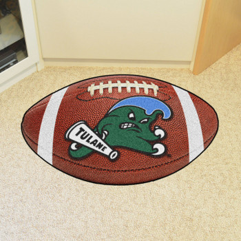 "20.5"" x 32.5"" Tulane University Football Shape Mat"