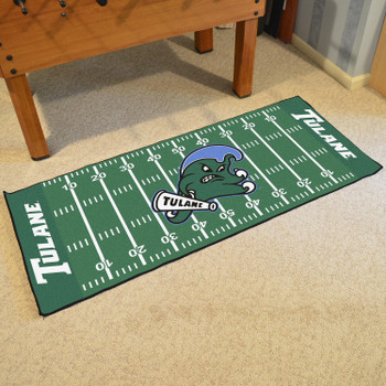 "30"" x 72"" Tulane University Football Field Rectangle Runner Mat"