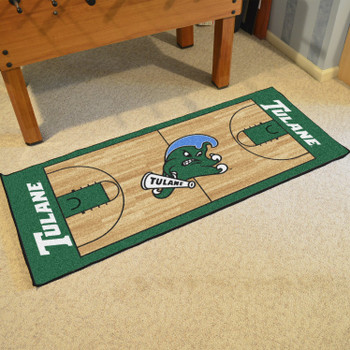 "30"" x 72"" Tulane University NCAA Basketball Rectangle Runner Mat"