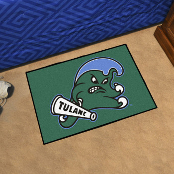 "19"" x 30"" Tulane University Green Rectangle Starter Mat"