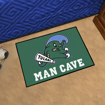 "19"" x 30"" Tulane University Man Cave Starter Green Rectangle Mat"