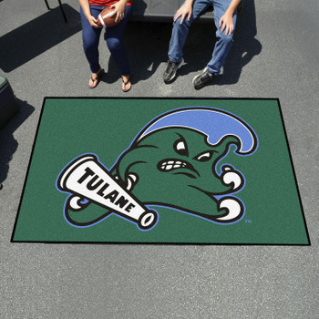 "59.5"" x 94.5"" Tulane University Green Rectangle Ulti Mat"