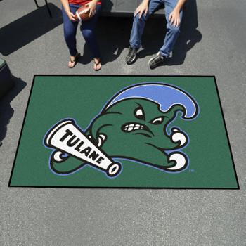 "59.5"" x 94.5"" Tulane University Green Rectangle Ulti Mat"