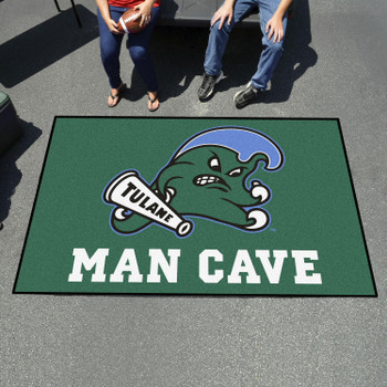 "59.5"" x 94.5"" Tulane University Man Cave Green Rectangle Ulti Mat"