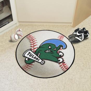 "27"" Tulane University Baseball Style Round Mat"