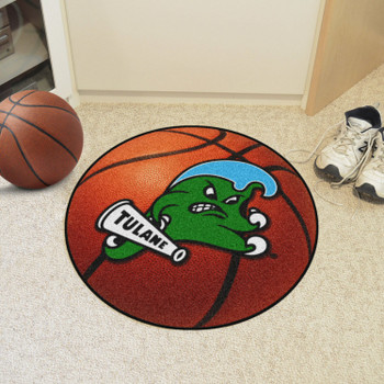 "27"" Tulane University Basketball Style Round Mat"