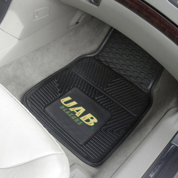 University of Alabama at Birmingham Heavy Duty Vinyl Front Black Car Mat, Set of 2