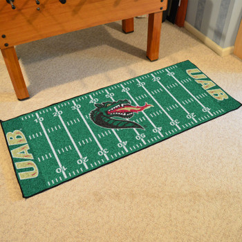 "30"" x 72"" University of Alabama at Birmingham Football Field Rectangle Runner Mat"