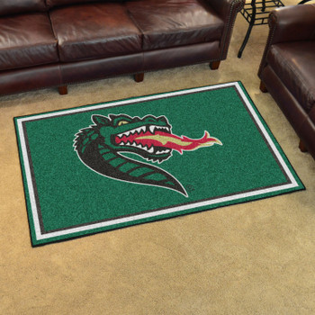 4' x 6' University of Alabama at Birmingham Green Rectangle Rug