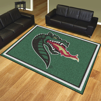8' x 10' University of Alabama at Birmingham Green Rectangle Rug