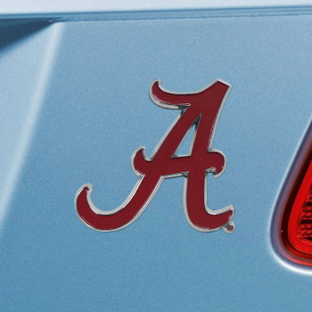 University of Alabama Red Color Emblem, Set of 2