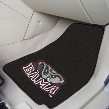 University of Alabama Black Carpet Car Mat, Set of 2